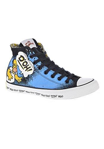 Comic Simpsons Chucks Converse 141392c schwarz blau gelb