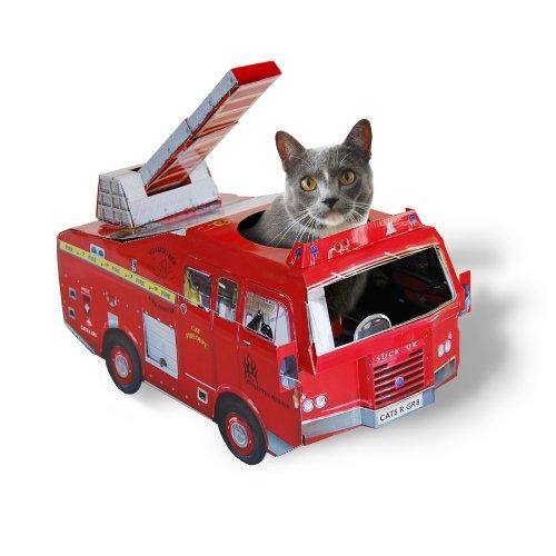 Katzen Spielhaus Feuerwehr Auto