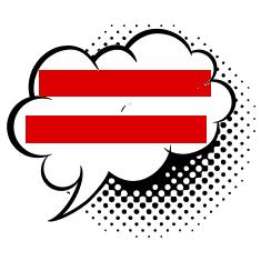 Knallrotes Gummiboot