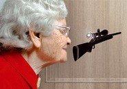 Türspion Sticker Zielfernrohr Gewehr