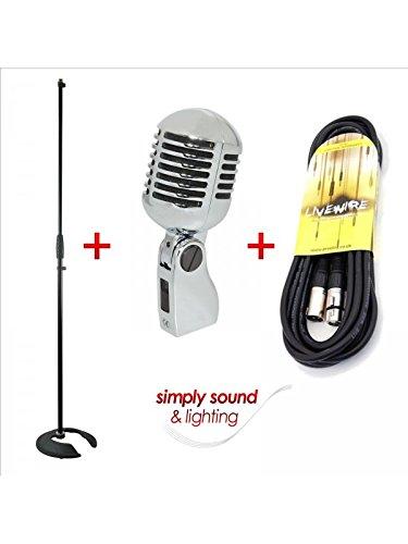 Retro Vintage-Stil 50 's Mikrofon mit 6 m Kabel