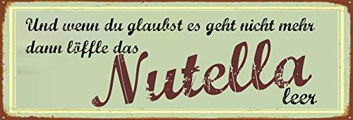 Vintage Nutella Schild wetterfest & witzig