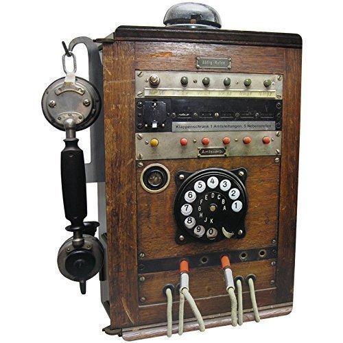 Retro Telefonstation Holz – Handys aufbewahren und laden