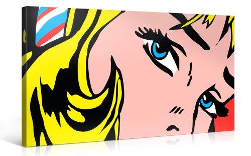 Pop Art Premium Kunstdruck Leinwand Wand-Bild
