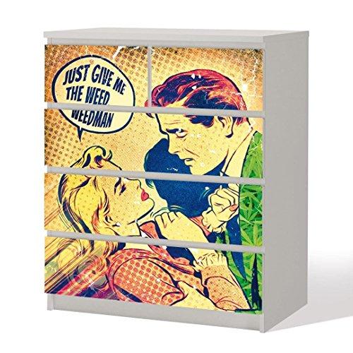 Roy Lichtenstein Klebefolie Popart für Möbel in 4 Größen